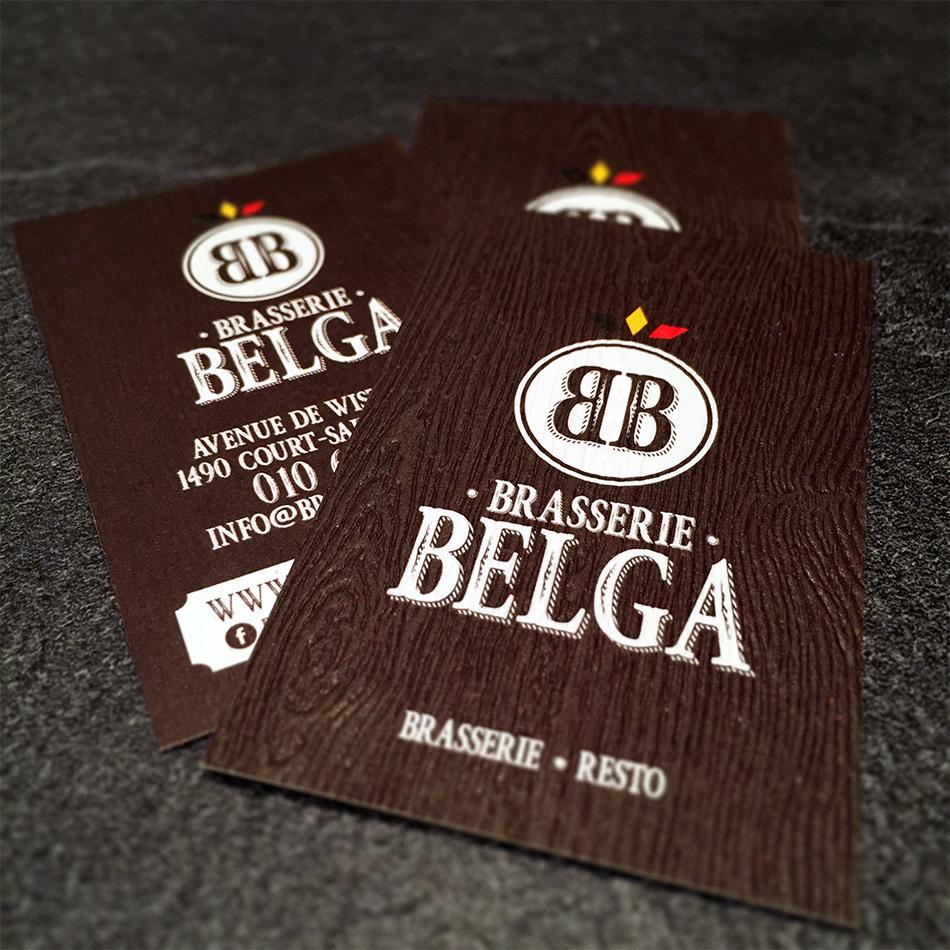 Carte De Visite Brasserie Belga