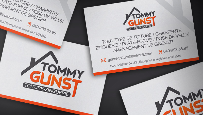 Carte De Visite Tommy Gunst Toiture